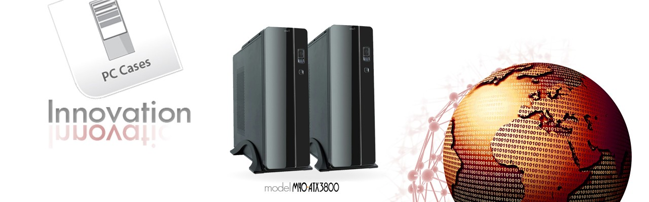 MYO-MATX3950  Slim ITX case black piano finish